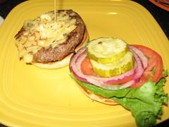 Belgian burger (open)