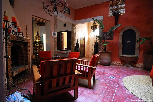 Photo of the patio of Villa Garance - riad Essaouira Morocco