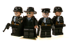 The Gestapo (Group Shot) (*Nobodycares*) Tags: lego nazis wwii worldwarii ww2 soldiers guns axis worldwar2 gestapo germans uas brickarms brickforge mmcb