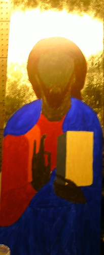 First Layer paint Christ Pantocrator