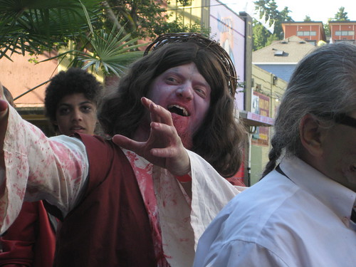 This was one of about three zombie Jesuses (Jesii?) that we saw that day.