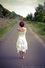 Turning my back... (Cat Rennie) Tags: red white nature girl fashion female angel star scotland model tattoos westcoast dunoon manipula andrewmoore davesanderson catrennie