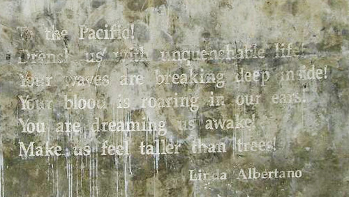 Poem by Linda Albertano on Venice Beach Poetry Walls