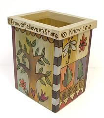 """Sticksой Utencil Holder BOX015 """"Know Love"""""""
