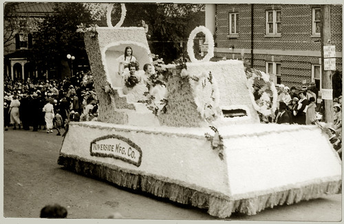 Girls on a parade float