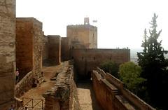 Blick auf die Alcazaba, Alhambra, Granada, Andalusien