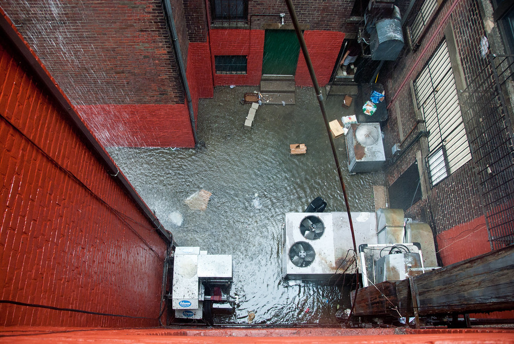 alley and water