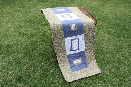 Mod Log Cabin Table Runner
