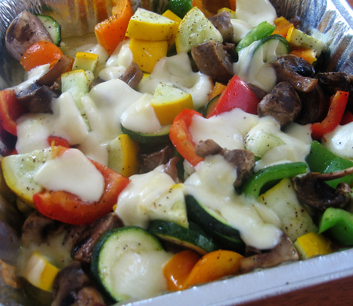 grilled veggies with mozzarella