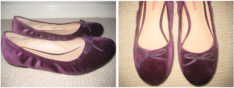 Purple Velvet Shoes