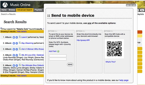 Screen shot 2010-07-09 Music Online QR Code
