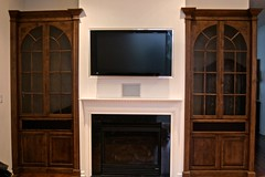 "50"" plasma, equipment & speakers in cabinet & custom URC remote"