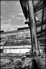 GRSM -=HDR=- BW (Adam Paris) Tags: county urban mill abandoned digital rural canon eos industrial decay kentucky exploring dslr exploration hdr owensboro urbex steelmill owensboroky riverport greenriversteel 40d greenriversteelmill daivess