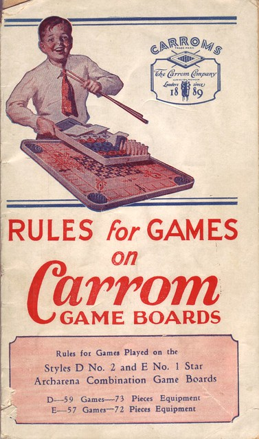 Rules for Games on Carrom Game Boards