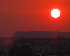 Red sunset (S.A.L.) Tags: sunset red italy sun holiday black tourism nature landscape scary italian tramonto tour shadows natural earth alien syracuse romantic sicily unusual sole rosso romantico siracusa italiano redsun romanticsunset