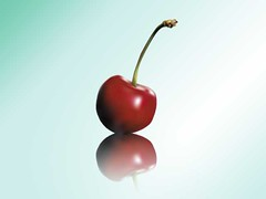 Cherry (vector) (crayonmonkey) Tags: red fruit cherry graphic sweet gradient illustrator practice edible vector meshgradient crayonmonkey
