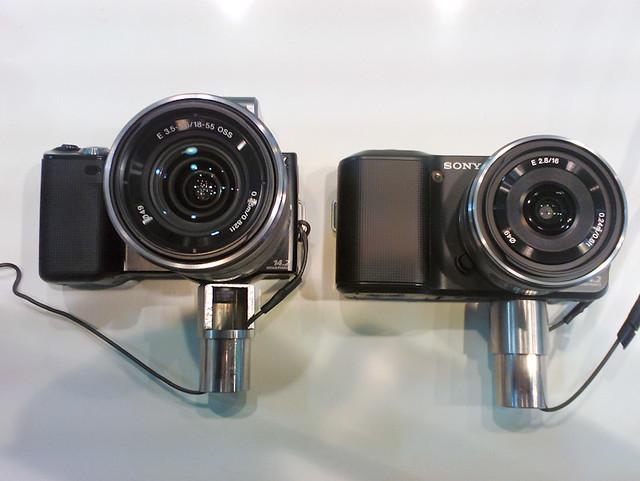 Sony NEX-3 and NEX-5 size comparison