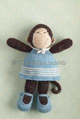 marissa (littlecottonrabbits) Tags: knitted animal softies monkey sailor nautical blue white stuffies toy sailorstripes