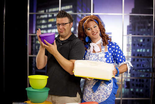 showcasing Tupperware with Dixie