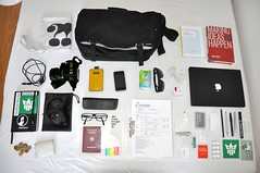 uk travel london bag journey inside messenger whatsinmybag insight creators incase creatorsproject