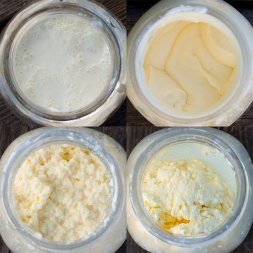 Homemade whipped butter in a jar