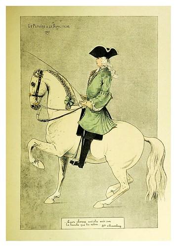 017- Paso a la Napolitana 1727-Le chic à cheval histoire pittoresque de l'équitation 1891- Louis Vallet