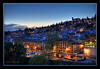 Granada view at night (Mike G. K.) Tags: blue houses sky night buildings lights spain cityscape view andalucia granada hdr photomatix 2exp platinumheartaward mikegk:gettyimages=submitted