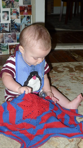 """Spiderman"" blanket!"