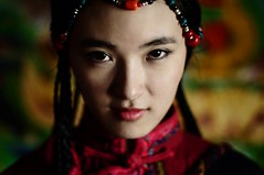 Seventeen (Jonathan Kos-Read) Tags: china red portrait hot green girl beautiful yellow delete10 delete9 asian delete5 50mm delete2 eyes nikon colorful asia dof bokeh delete6 delete7 f14 innocent chinese young save3 delete8 delete3 delete delete4 save save2 tibet shangrila save4 sultry tibetan save5 yunnan save6 minority servant d90 sexyeyes chinesecinema nikkor50mm asiancinema chinesefilm asianfilm asianeyes chinesetv asiantv chineseeyes deletedbydeletemeuncensored asianshowbusiness chineseshowbusiness
