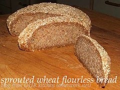 Sprouted wheat flourless bread