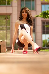 Arpita Patel - At Street Level (willstotler) Tags: leica city urban woman india cute philadelphia girl fashion female 35mm model photoshoot pennsylvania indian cosina voigtlander babe pa m8 shooting philly 12 amateur strapless couture nokton patel steet f12 arpita braless cv35 modelmayhem leicam8 willstotler mm1193815 1193815 arpitapatel