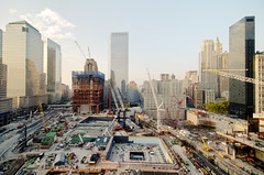 World Trade Center progress, New York City (mudpig) Tags: nyc newyorkcity cloud ny newyork building skyline geotagged construction downtown cityscape crane worldtradecenter 4 7 wtc gothamist goldman groundzero hdr sachs woolworthbuilding millenniumhotel 7worldtradecenter freedomtower mudpig 1worldtradecenter stevekelley worldtradehotel