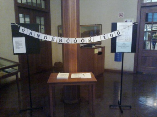 Vandercook Print Bundle in the William Cullen library foyer