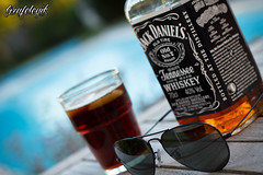 Sunglasses quoi... (Grafologik) Tags: pool sunglasses canon jack ray daniels whisky ban aviator rayban piscine wiskey eos550d grafologik