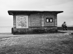 school's out for summer (stumayhew) Tags: uk england canon coast candid streetphotography hut coastal 5d shelter freshwater isleifwight