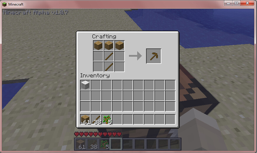 How Do You Craft A Wooden Pickaxe In Minecraft Pc