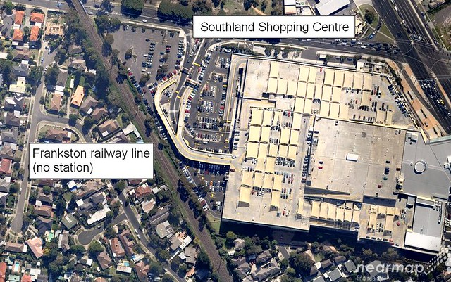 Southland Shopping Centre from above