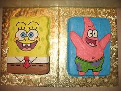 SpongeBob and Patrick Cakes (Edible Epiphanies) Tags: cake patrick birthdaycake spongebob imagetransfer kidscake
