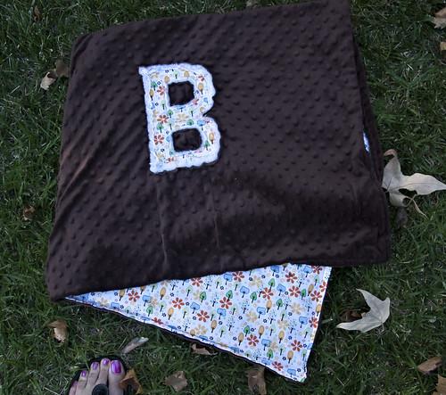 B Minky Initial Blanket