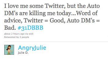 Auto DM's Tweet
