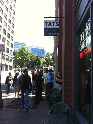 The ridiculous line at Tat's