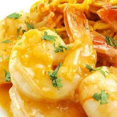 Coconut Curry Shrimp with Peanut Noodles