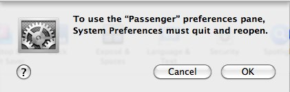 Passenger Preference Pane 32bit Warning