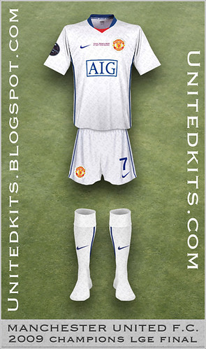 Manchester United 2009 Champions League Final kit