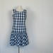 1960s ruffle bottom blue gingham sundress, by Bill Atkinson glen of michigan