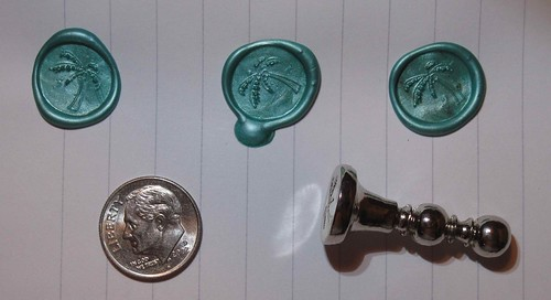 First tries at wax seals