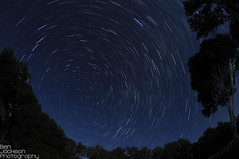 Potter Valley Star Trails (Ben-Jackson-Photography) Tags: california blue star north trails potter fisheye valley nikkor105mmf28fisheye