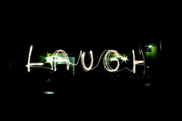 laugh like sparklers