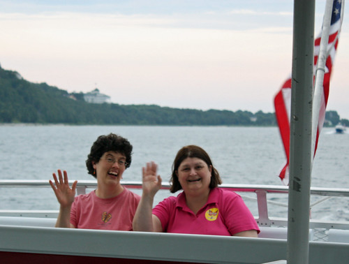 Judy and Cindy on Mackinac Island ferry