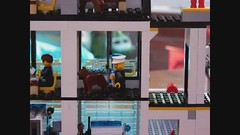 Lego Police Stop-Motion Animation ( Claire ) Tags: station movie lego crash accident police animation fireengine policestation smartcar handcuffs arrest stopmotion